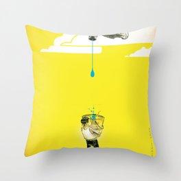 "Glue Network Print Series ""Water / Hygiene / Sanitation"" Throw Pillow"