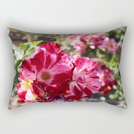Pink and White Flowers Rectangular Pillow