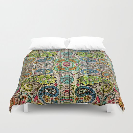 Kashmir on Wood 03 Duvet Cover