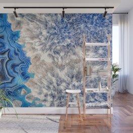 Blue sea ice agate 2990 Wall Mural