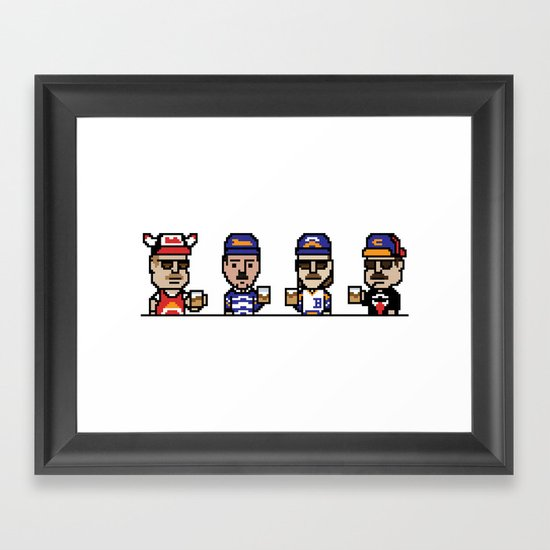 8-Bit: Superfans Framed Art Print
