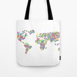 Tetris world (white one) Tote Bag