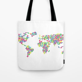 Tetris world (white one) Tote Bag