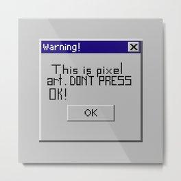 Pixel art Metal Print
