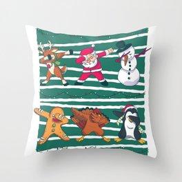 Dabbing Celebration Christmas Santa Teem Throw Pillow