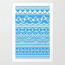 Christmas Blue Spirit Art Print
