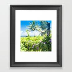Ipomoea Keanae Morning Glory Maui Hawaii Framed Art Print