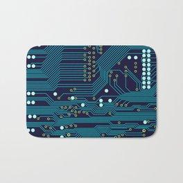 Dark Circuit Board Bath Mat