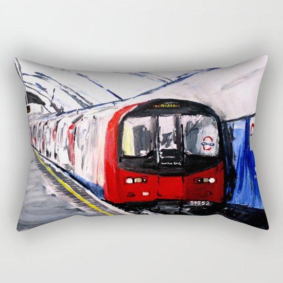 London Underground Northern Line Fine Art Rectangular Pillow