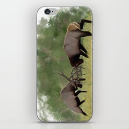 Bull Elk Fighting  iPhone Skin