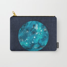 Scorpio zodiac constellation on navy blue Carry-All Pouch