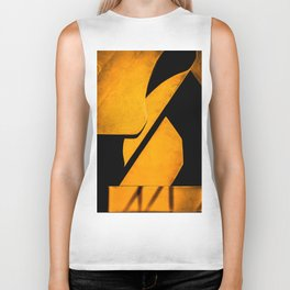 yellow and black Biker Tank