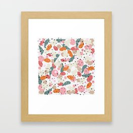 colorful shapes and figures Framed Art Print