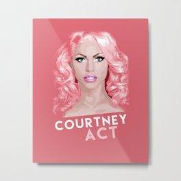Courtney Act, RuPaul's Drag Race Queen Metal Print