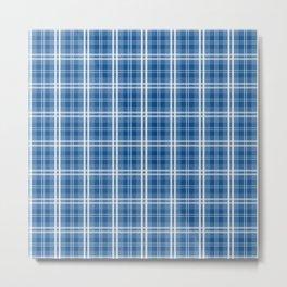 Spring 2017 Designer Color Lapis Blue Tartan Plaid Check Metal Print