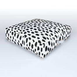 Dalmatian Spots (black/white) Outdoor Floor Cushion