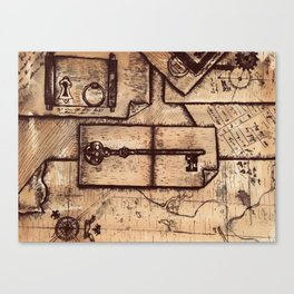 Piece Together the Clues Canvas Print