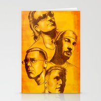 u2 Stationery Cards featuring U2 - Série Ouro by Renato Cunha