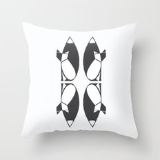 foxy reflected Throw Pillow