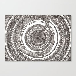 Ouroboros Mandala Canvas Print