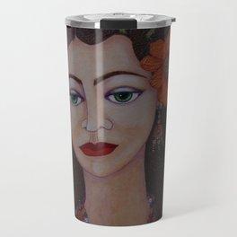 Gypsy with green eyes Travel Mug