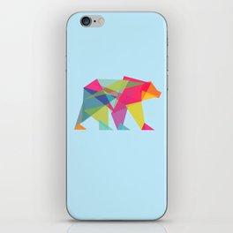 Fractal Bear - neon colorways iPhone Skin