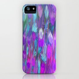 Field of Flowers in Purple, Blue and Pink iPhone Case