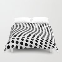 wave Duvet Covers featuring Wave by fly fly away