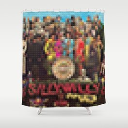 Sgt. Pepper's Lonely Heart Club Band - Legobricks Shower Curtain