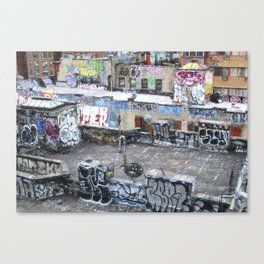 NYC Rooftop Art Canvas Print
