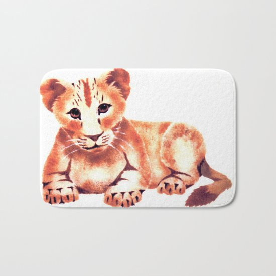Baby Lion Cub Bath Mat