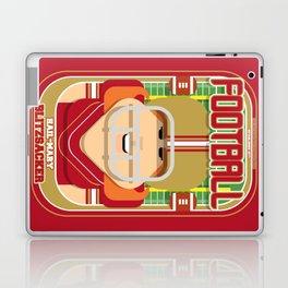 American Football Red and Gold - Hail-Mary Blitzsacker - Jacqui version Laptop & iPad Skin