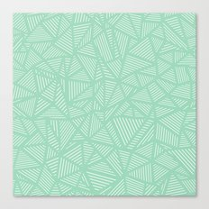 Geo Lines Mint Canvas Print