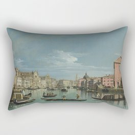 Venice: The Grand Canal facing Santa Croce by Bernardo Bellotto Rectangular Pillow