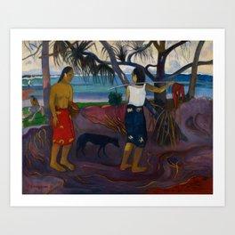 Paul Gauguin - (Under the Pandanus) I Raro Te Oviri (1891) Art Print