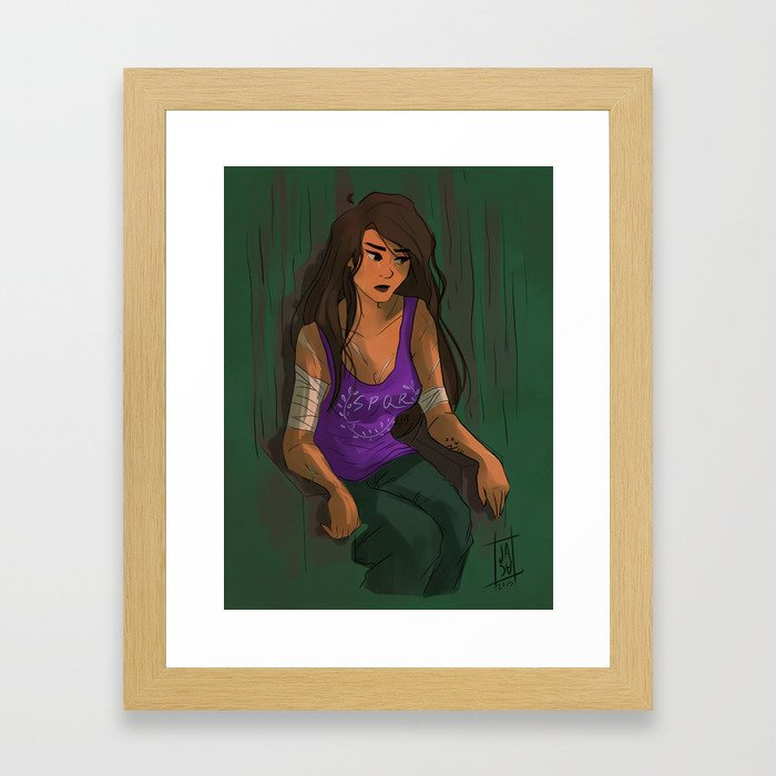 even heroes cry Framed Art Print