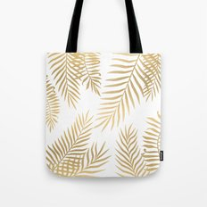 Gold palm leaves Tote Bag