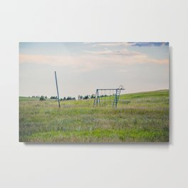 Playground, Palmgren Township School, North Dakota 2 Metal Print