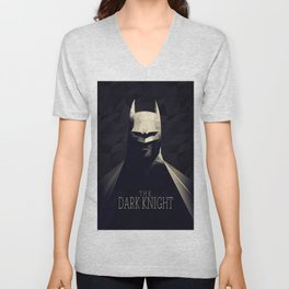 The Bat Knight Poly Art Unisex V-Neck