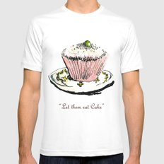 Let Them Eat Cake White X-LARGE Mens Fitted Tee