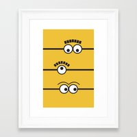 minions Framed Art Prints featuring Minions by J Spiegel