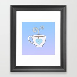 Broken Hearted Tea Cup Framed Art Print
