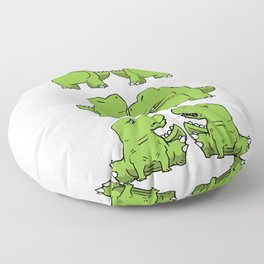 T-Rex Fusion Short Arms Dino funny gift Floor Pillow