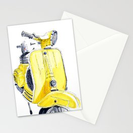 Yellow Vespa 50s Stationery Cards