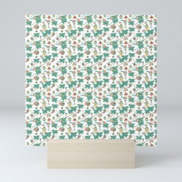 Tropical kitch cocktail pattern Mini Art Print