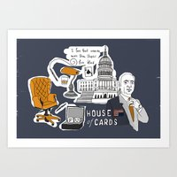 house of cards Art Prints featuring House of cards by zldrawings