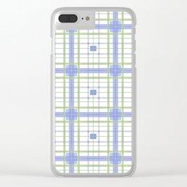 AFE Tartan Pattern3 Clear iPhone Case