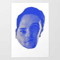 chad wys Art Prints featuring Bad Chad Head by Blake Makes Tees