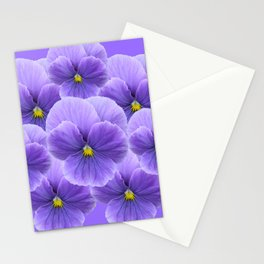 LILAC PURPLE SPRING PANSY FLOWERS ART Stationery Cards