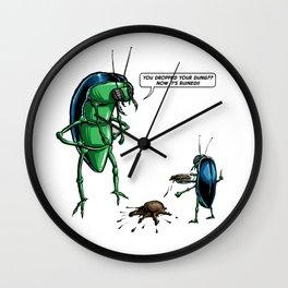 Dung Beetles Wall Clock